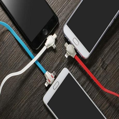 Съвременен бързо зараждащ USB кабел за iPhone и Android  3 В 1