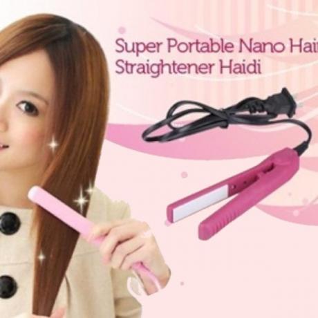 Компактна мини преса за изправяне на коса
