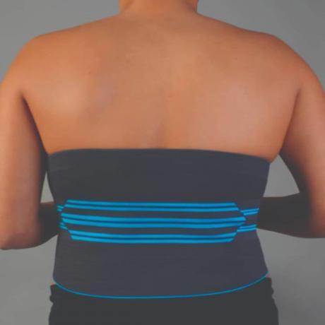 Олекотен колан за масаж и поддръжка на кръста
