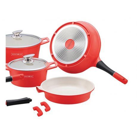 Професионален сет готварски съдове с керамично покритие и индукционно дъно Royalty Line