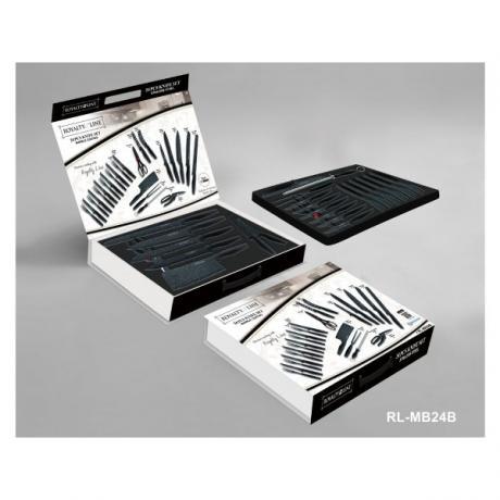 Луксозен комплект ножове и прибори за хранене с антибактериално мраморно покритие