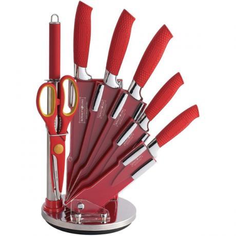 Първокласен сет от стоманени ножове с незалепващо антибактериално покритие Royalty Line