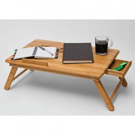 Универсална масичка за лаптоп тип поднос за легло от бамбук