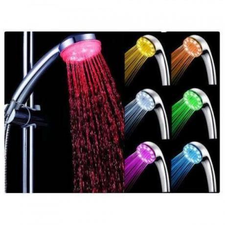 LED слушалка за душ светеща в цвят по избор