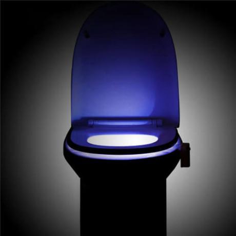 Осветление за тоалетна чиния в 8 различни LED светлини