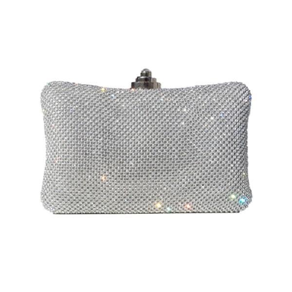 a5389754d32 Сребриста дамска чанта с камъни - chn3676 на топ цена — Vibe.bg