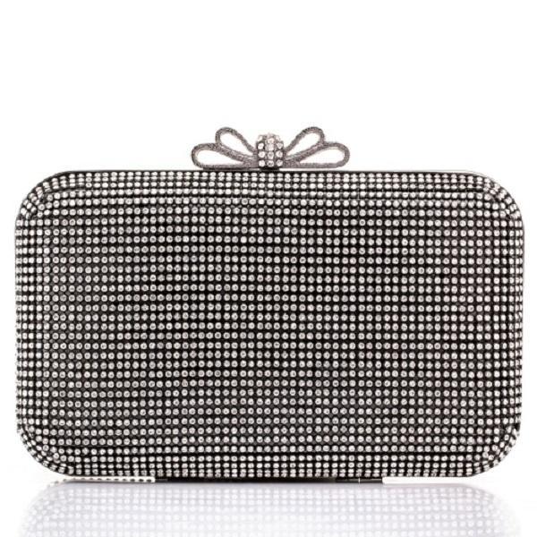 ac6cc4fa05b Черна официална дамска чанта с камъни тип сваровски - chn4220 на топ ...