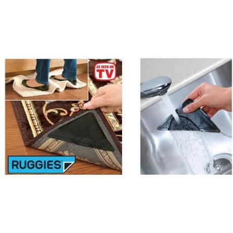 Ruggies подложки против хлъзгане и подвити краища на килими