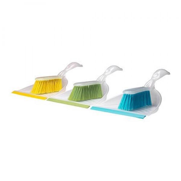 Компактна четка за почистване с лопатка