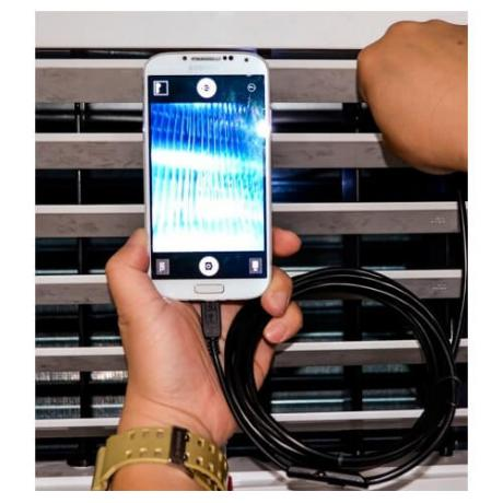 Бюджетна водоустойчива ендоскопична камера за свързване с Андроид устройства - обектив 5мм.
