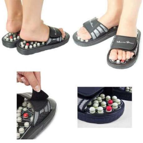 Рефлексотерапия и масаж със специални чехли Foot Reflex