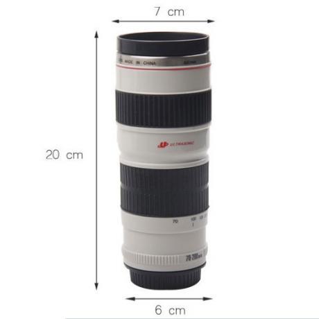 Уникална термо чаша с форма на фото обектив и USB кабел за подгряване