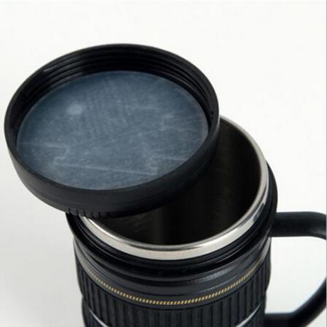 Малка термос чаша с дръжка - обектив CANON