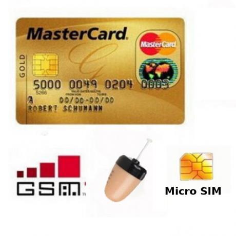 GSM предавател за скрита комуникация с микрослушалка тип тапичка