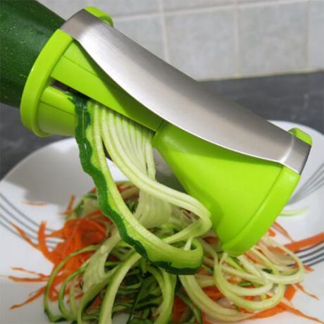 Уред за декорация на спираловидни зеленчуци за ястия и салати
