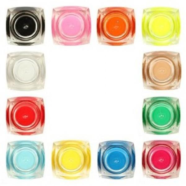 Комплект разноцветни изграждащи UV гелове за нокти