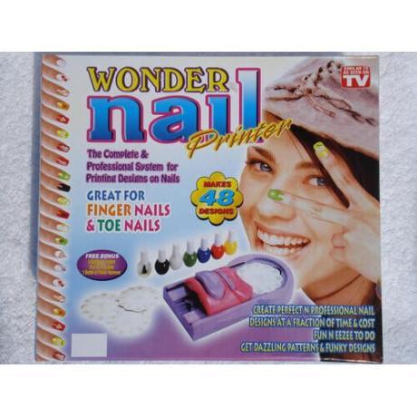 Комплект за маникюр с шаблони Wonder Nail Printer