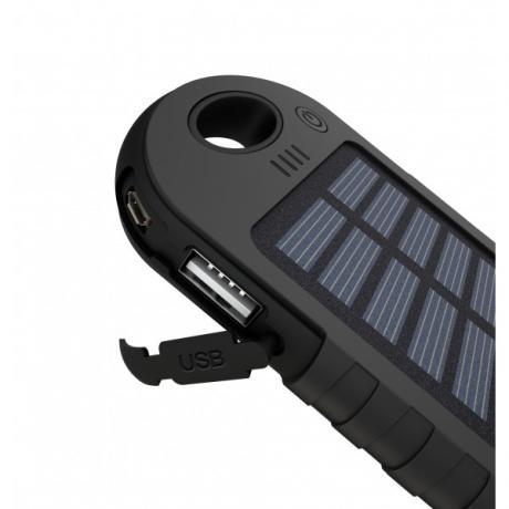 Външна соларна батерия със 12 светодиода с UV фенер