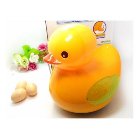 Детска играчка музикално жълто пате снасящо яйца