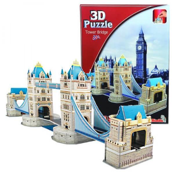 3D Пъзел Тауър Бридж от 237 части
