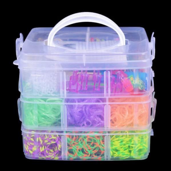 Куфарче с цветни ластичета на 3 етажа