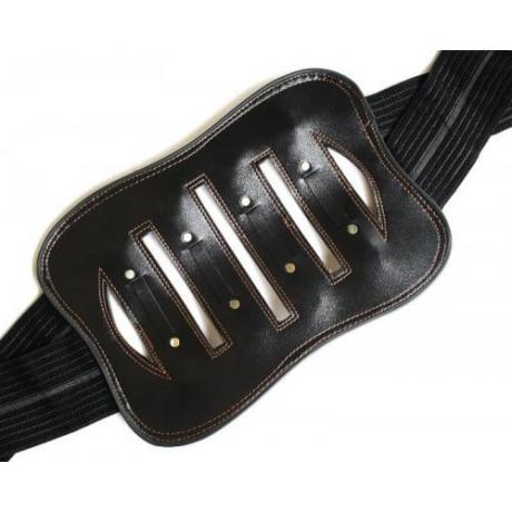 Колан с придържащи метални пластини за болки в кръста