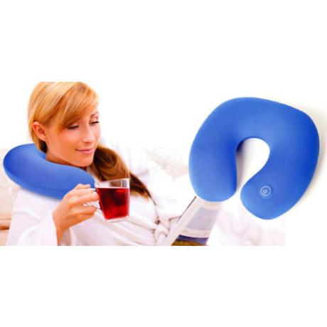 Лека и удобна масажираща възглавница за врат и рамена