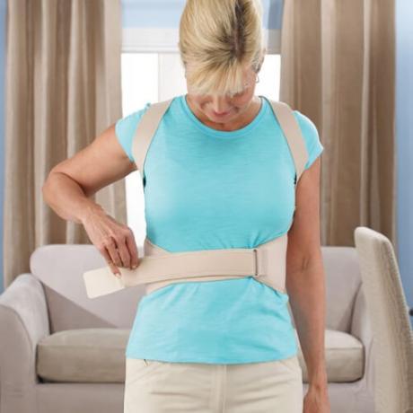 Колан за изправяне и поддържане на гърба + турмалинови наколенки с магнити